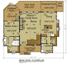 apartments floor plans for lake homes narrow lot lake house