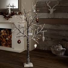 twig tree with lights rustic artificial christmas tree lights collaborate decors