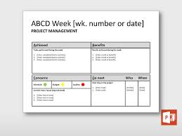 it issue report template weekly abcd report project templates guru