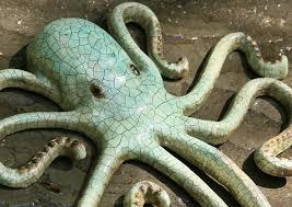 large metal octopus wall art recycled metal decor octopus hook