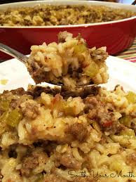 south your sausage and rice casserole