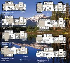 5th Wheel Camper Floor Plans by Best 5th Wheel Floor Plans Fifth Wheel Floorplans Camping