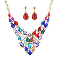 drop shaped necklace images Wholesale crystal necklaces fashiontiy jpg