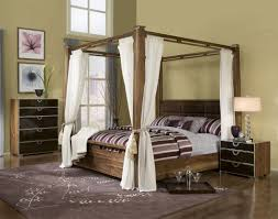 bedroom furniture bedroom distressed wooden canopy bed with along