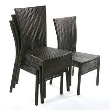 chaise de jardin chaise jardin resine tressee fauteuil jardin lot de 4 chaises