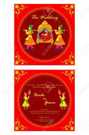 Free Editable Wedding Invitation Cards Vector Illustration Of Indian Wedding Invitation Card Royalty Free