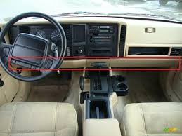 jeep dashboard wtb fourcorners 86 u0027 96 u0027 lower dash panel tan jeep cherokee forum