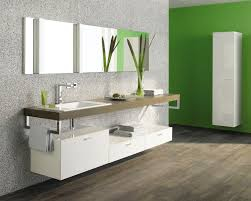 white high gloss polished particle wood floaying vanity with