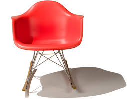 Modern Plastic Chairs Eames Molded Plastic Armchair With Rocker Base Hivemodern Com