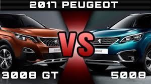 peugeot range 2016 2017 peugeot 5008 vs 2017 peugeot 3008 gt review rendered price