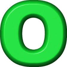 presentation alphabets green refrigerator magnet o