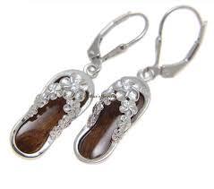 Koa Wood Plumeria Flower Sterling Silver Pendant Hawaiian Koa Wood Jewelry Earrings U2013 Arthur U0027s Jewelry