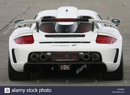 gemballa mirage porsche gemballa mirage gt white rear view car outside