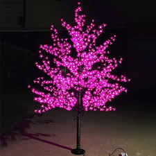 outdoor lighted cherry blossom tree outdoor waterproof artificial led cherry blossom tree l lighted