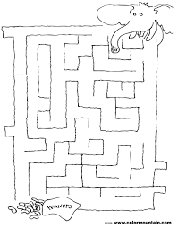 elephant maze coloring activity sheet create a printout or activity