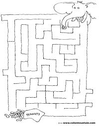 elephant maze coloring activity sheet create a printout or activity
