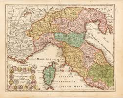 Corsica Map Antique Map Of Northern Italy Weigel 1720 Hjbmaps Com U2013 Hjbmaps
