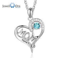 personalized birthstone necklace personalized 925 sterling silver birthstone necklace with