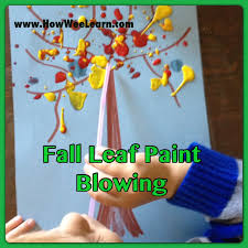 crafts for kids paint blowing how wee learn
