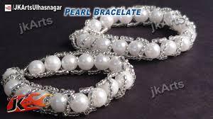 diy make bracelet images Diy pearl bracelet how to make jewelry making jk arts 428 jpg