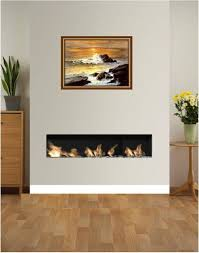 1000mm open fronted edge style frameless hole in the wall fire