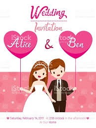 Weeding Invitation Card Wedding Invitation Card Template Bride And Groom Stock Vector Art