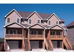 three plex floor plans multi family house plans triplexes townhouses the house plan shop
