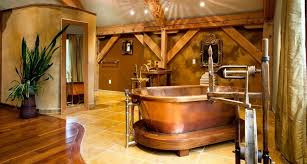 rustic bathroom design 20 rustic bathroom designs with copper bathtub