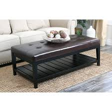 Leather Ottoman Coffee Table Rectangle Ottoman Leather Coffee Table Storage Ottoman Coffee Table To