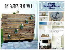 home decor party inspiration gallery link y diy garden slat wall nautical latest
