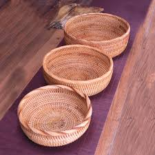 online buy wholesale round rattan baskets from china round rattan