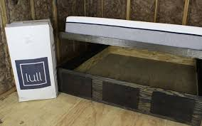 lull memory foam mattress king size bed build papaw u0027s wood shop
