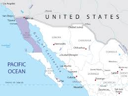 map of mexico and california map of baja california norte in mexico