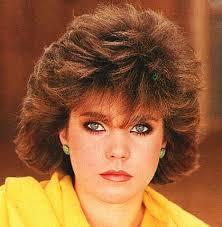 1980 bob hairstyle short hair big bangs winged sides 80s hair makeup