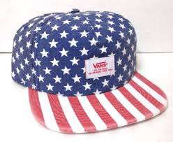 American Flag Camo Hat Vtg Faded Look Vans Off The Wall Hat American Flag Stars And