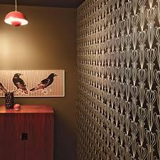 Wallpaper Removable Tulip Art Nouveau Modern Classic Black Silver Removable Wallpaper