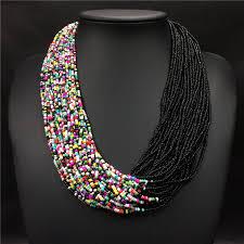 multi layered beaded necklace images Buy 2018 fashion bohemian boho acrylic beads jpg