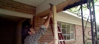 installing a fiberglass porch column today u0027s homeowner
