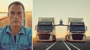 volvo commercial trucks jean claude van damme does split between 2 trucks u0026 40 video u0026 41
