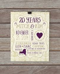 20th wedding anniversary gifts gift ideas for 20th wedding anniversary for husband wedding