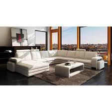 canapé 10 places canapé d angle panoramique cuir blanc 10 places havane gauche