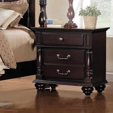 Cherry Home Decor Brilliant Cherry Nightstand With Drawers Alluring Home Decor Ideas