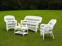 Patio Furniture Conversation Sets Clearance by Tortuga Portside Coastal White Wicker Conversation Set Ps 3379 White