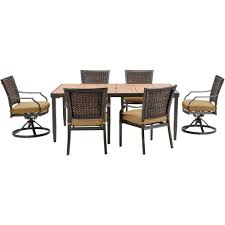 Hampton Bay Corranade 5 Piece - hampton bay woodbury 7 piece wicker outdoor patio dining set with