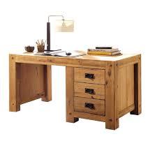 bureau chene bureau en chêne huilé 130cm