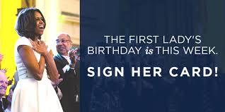 doc michelle obama birthday card u2013 michelle obama proudly shows