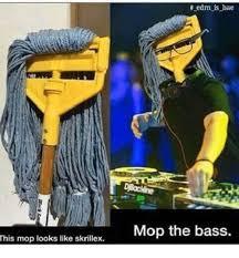Skrillex Meme - this mop looks like skrillex edm is bae mop the bass bae meme on me me