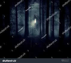 mystical halloween background halloween night background scary house forest stock photo