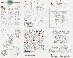 wedding coloring activity books for kids wedding favors for kids