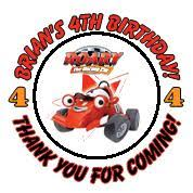 roary racing car party stickers